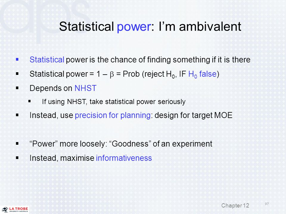 Statistical power: I'm ambivalent