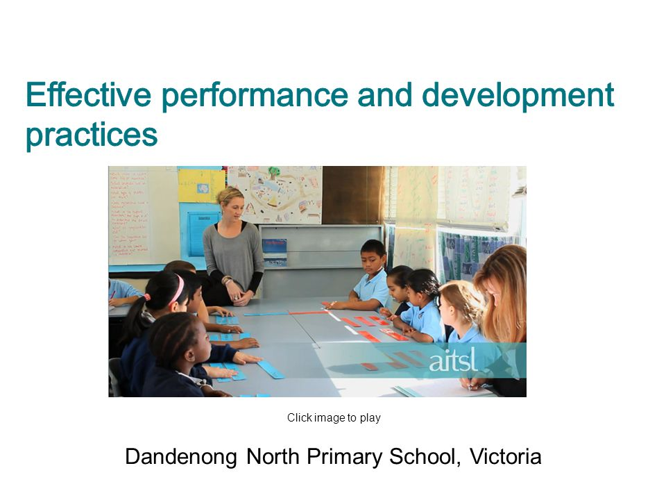 Effective performance and development practices