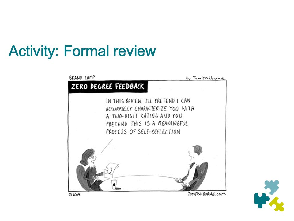 Activity: Formal review
