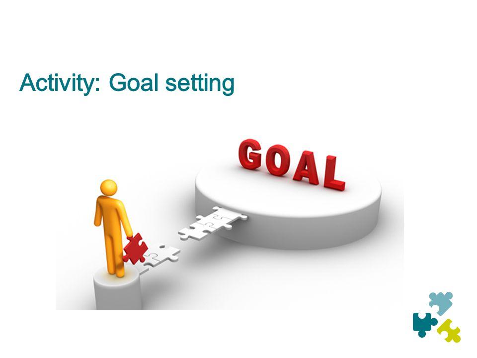 Activity: Goal setting