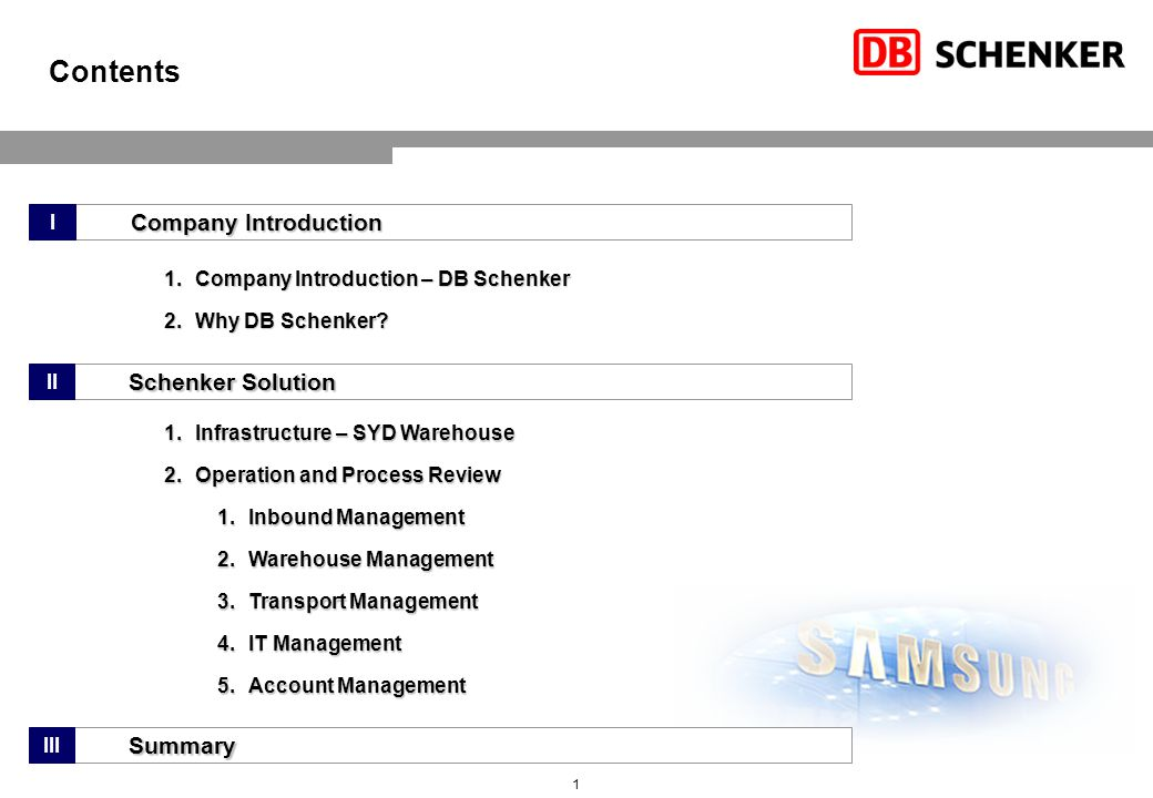 Company Introduction – Who is DB Schenker
