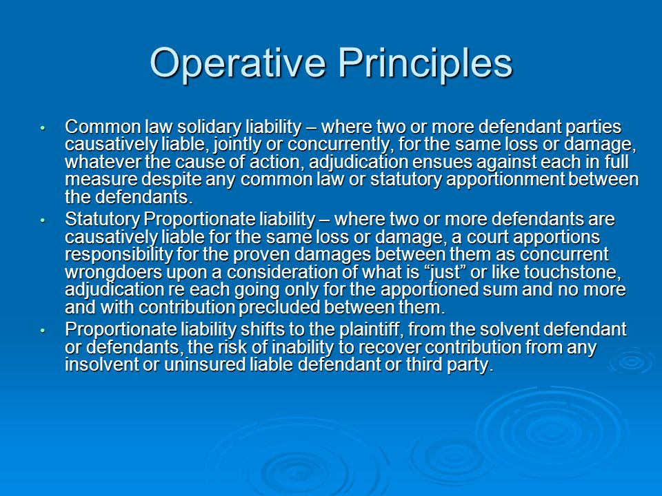 Operative Principles