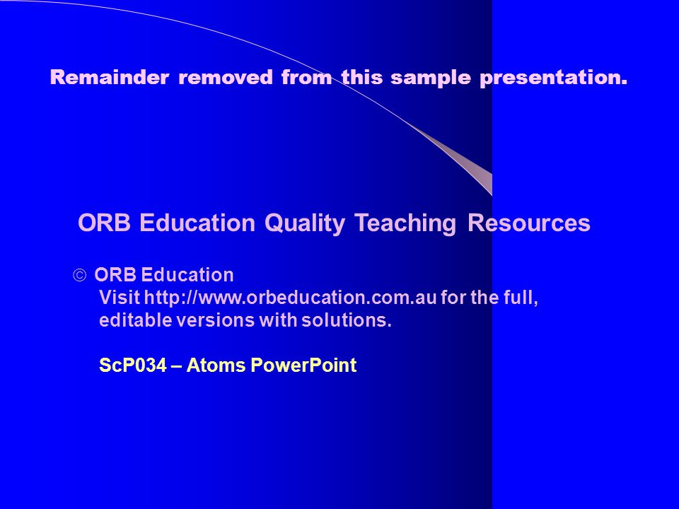 ORB Education Quality Teaching Resources