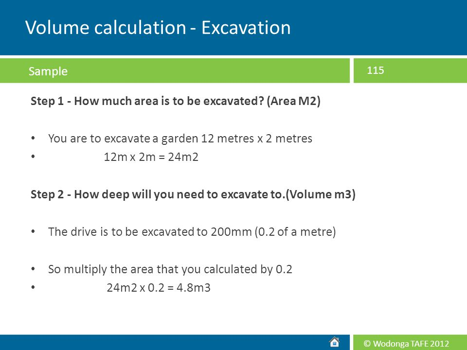 Volume calculation - Excavation
