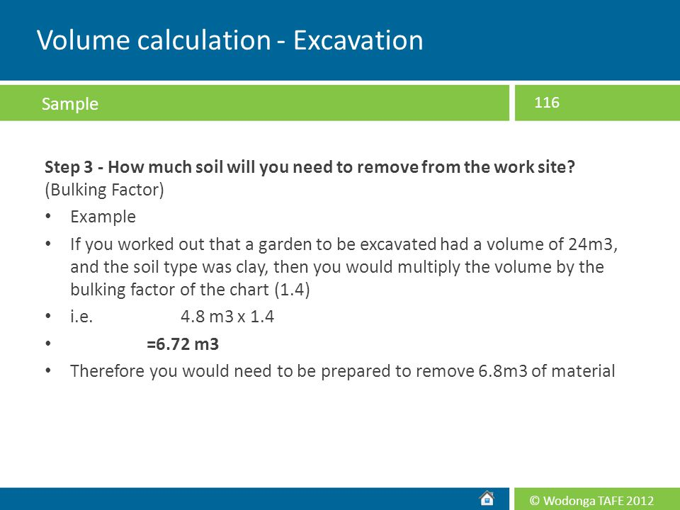 Volume calculation - Excavation