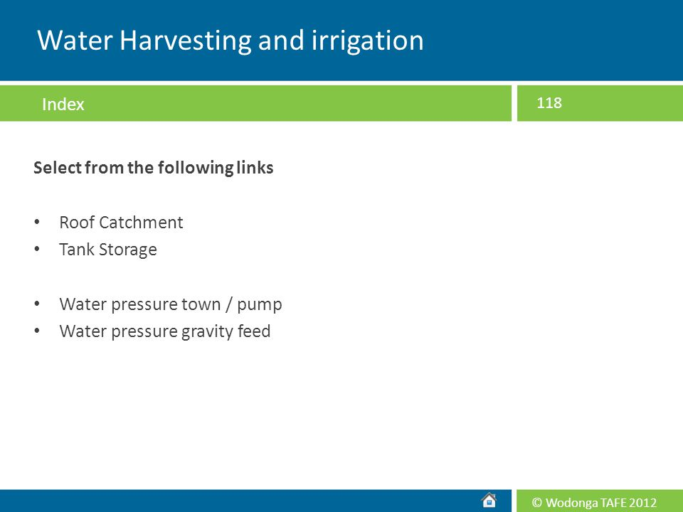 Water Harvesting and irrigation