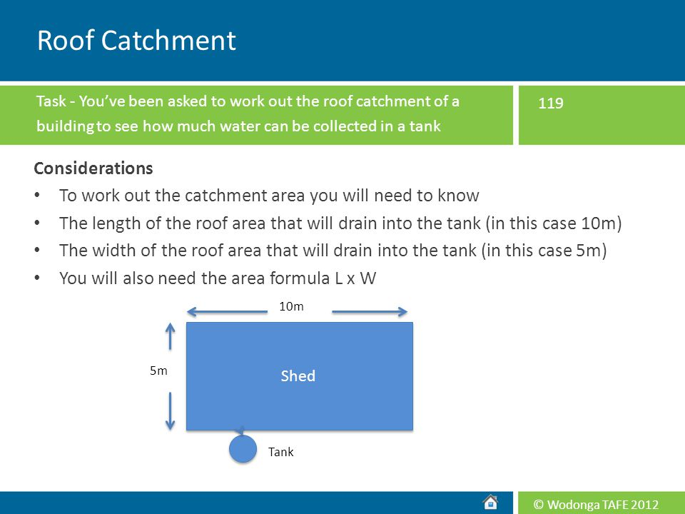 Roof Catchment Considerations