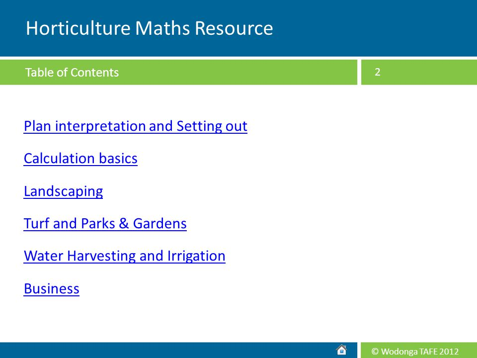 Horticulture Maths Resource