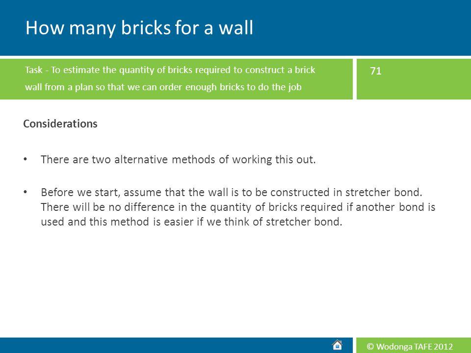 How many bricks for a wall