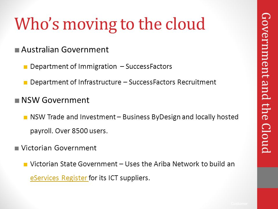 Who's moving to the cloud
