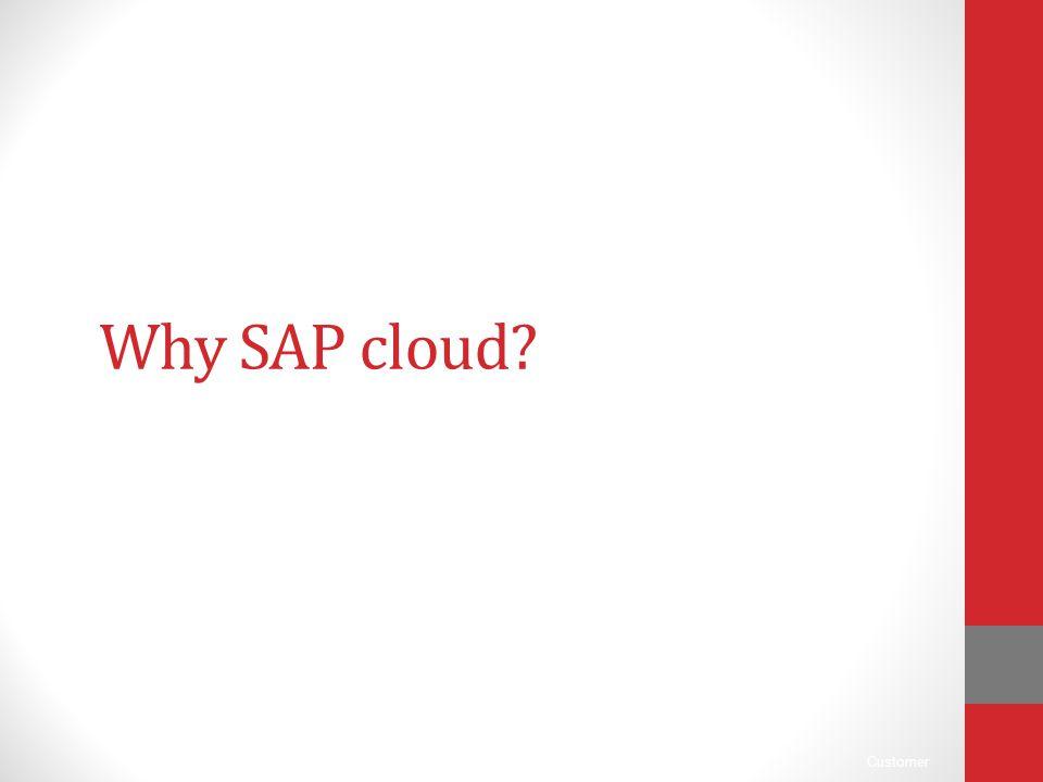 Why SAP cloud