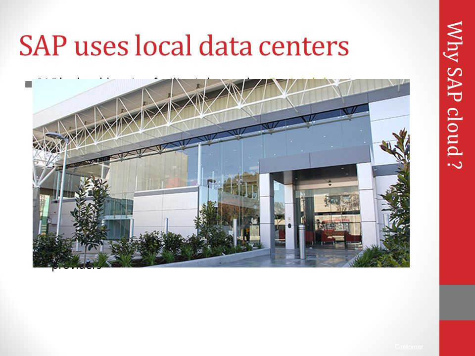 SAP uses local data centers