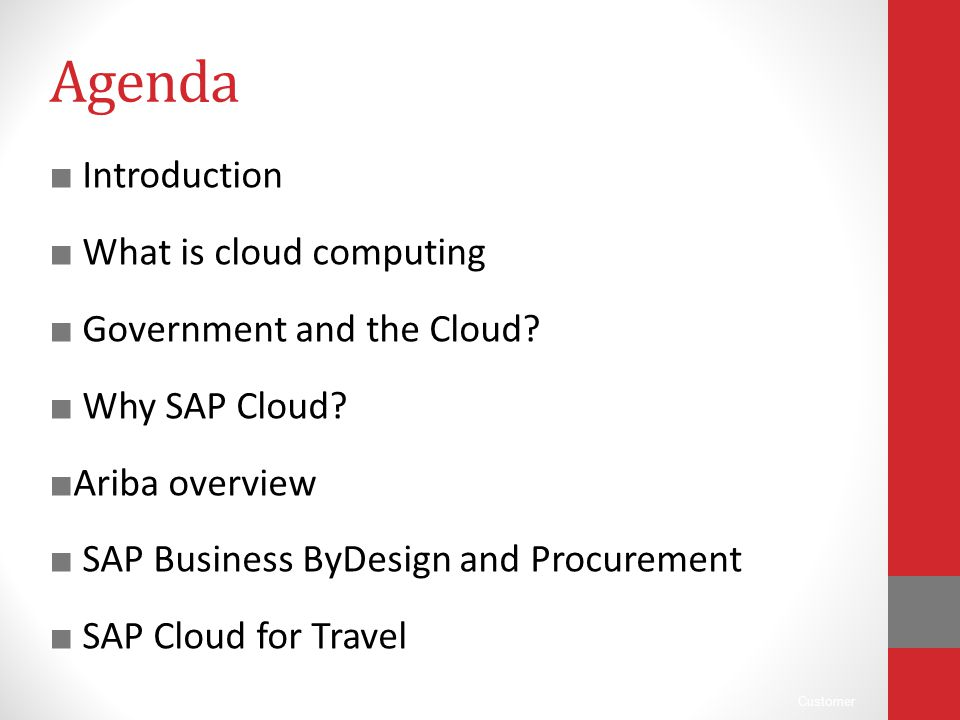 Agenda Introduction What is cloud computing Government and the Cloud