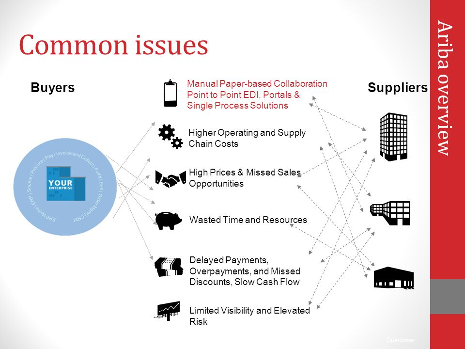 Common issues Ariba overview Buyers Suppliers