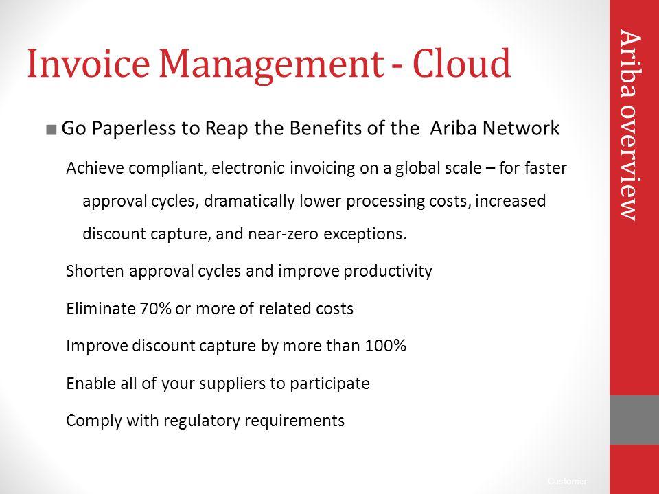 Invoice Management - Cloud