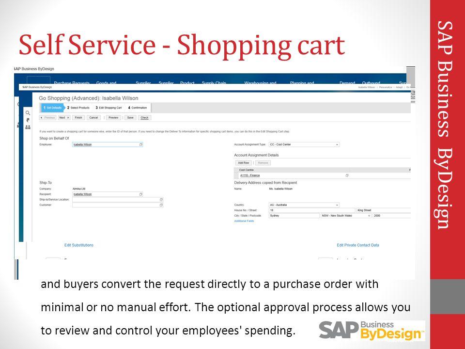 Self Service - Shopping cart