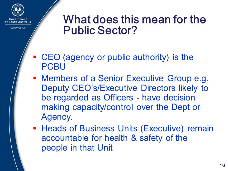 What does this mean for the Public Sector