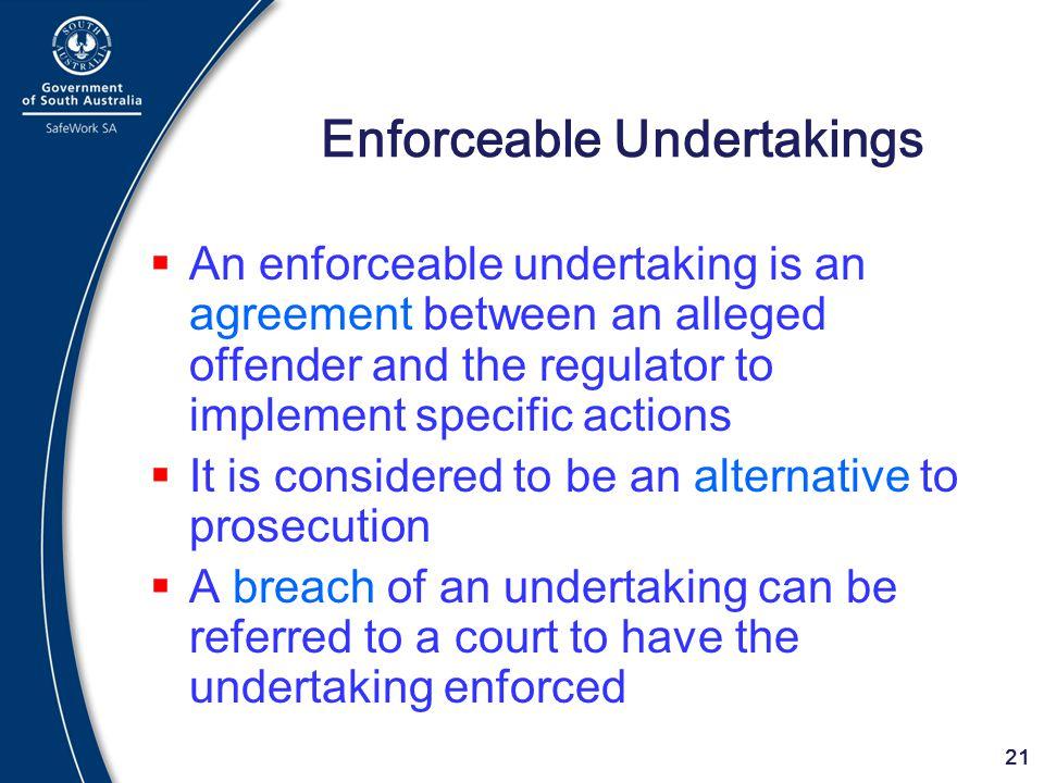 Enforceable Undertakings