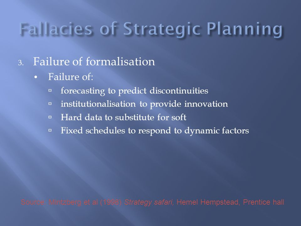 Fallacies of Strategic Planning