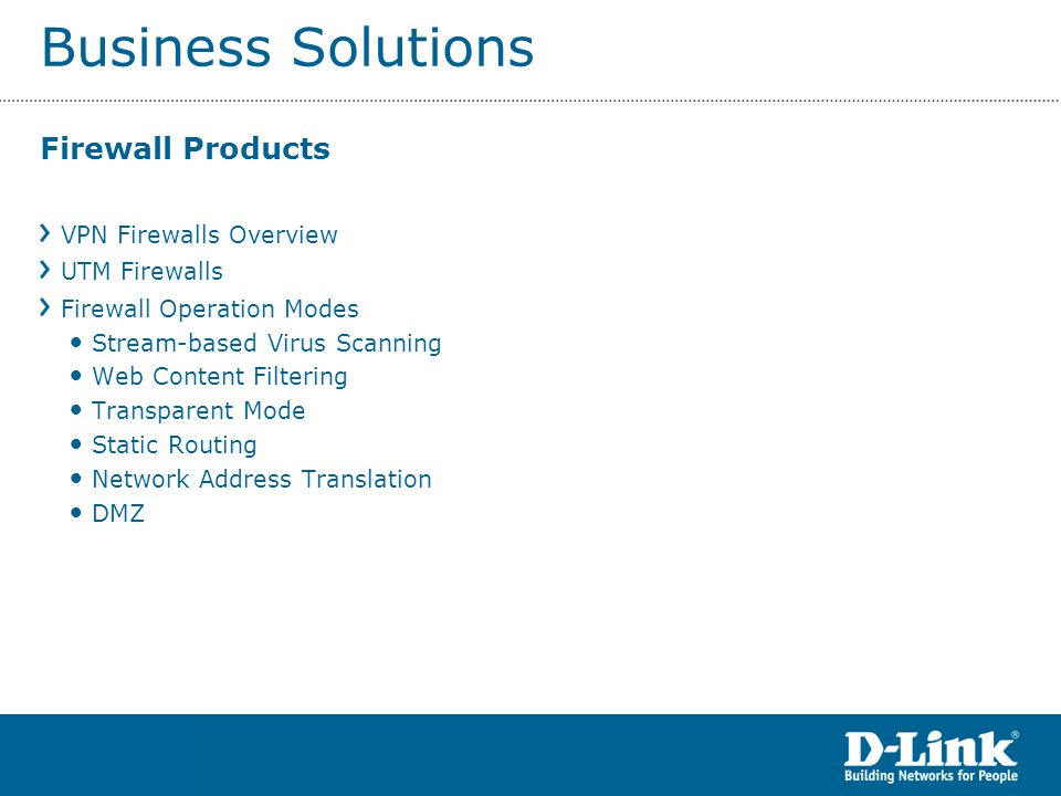 Business Solutions Firewall Products VPN Firewalls Overview