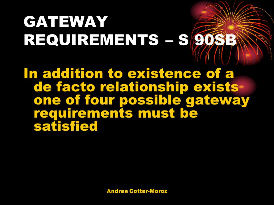 GATEWAY REQUIREMENTS – S 90SB
