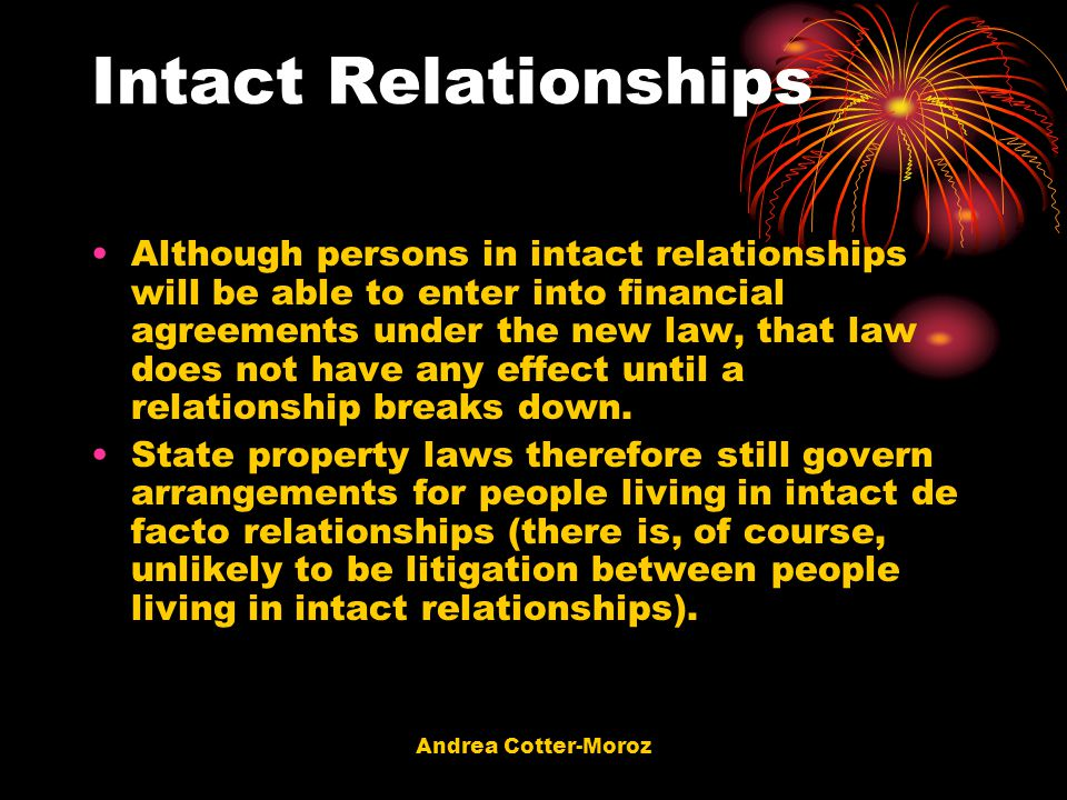 Intact Relationships
