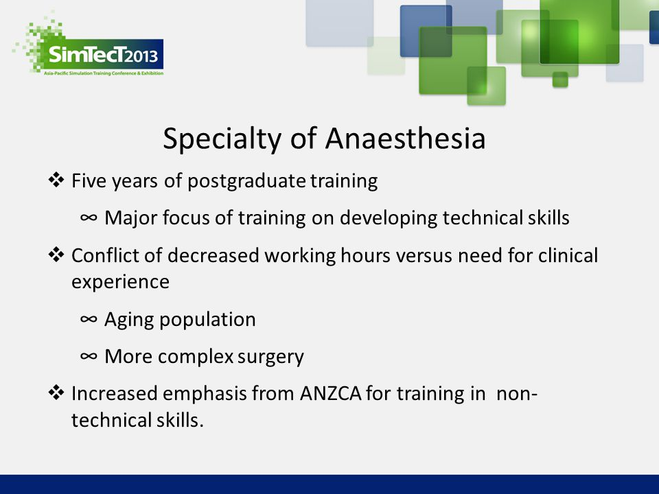 Specialty of Anaesthesia