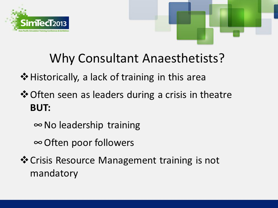 Why Consultant Anaesthetists