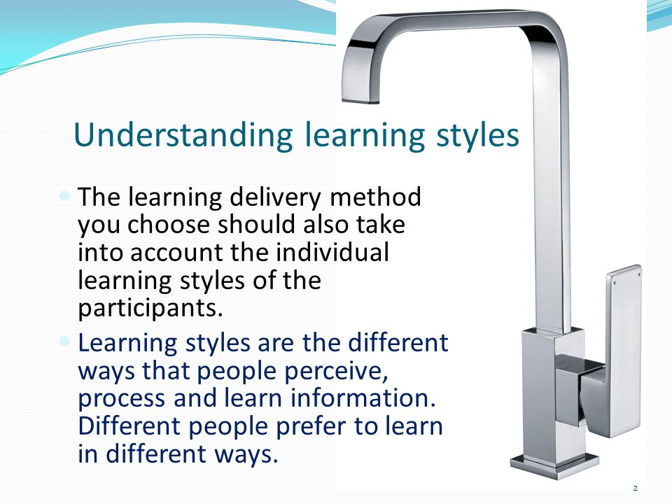 understanding learning style Identify your particular learning style understanding your particular learning style  and how to best meet the needs of student with that learning style.
