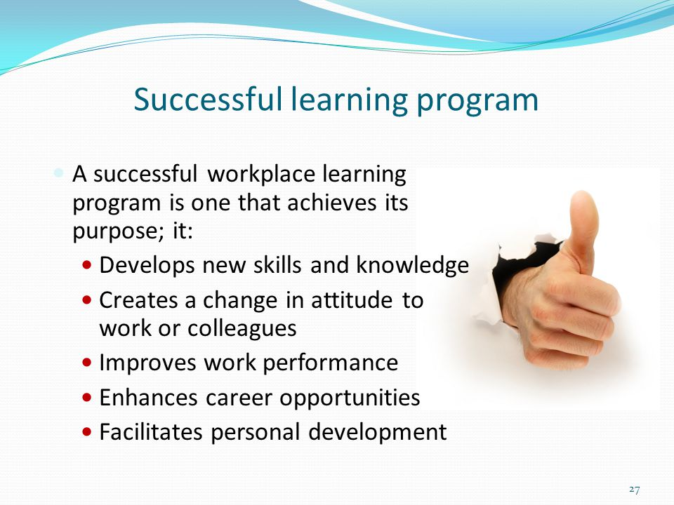 Successful learning program