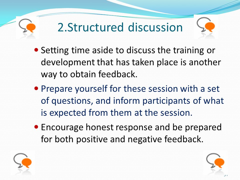 2.Structured discussion