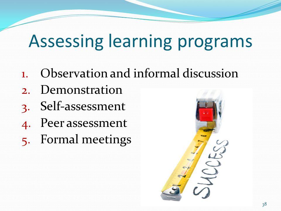 Assessing learning programs