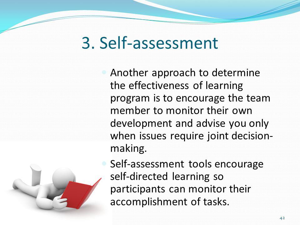 3. Self-assessment