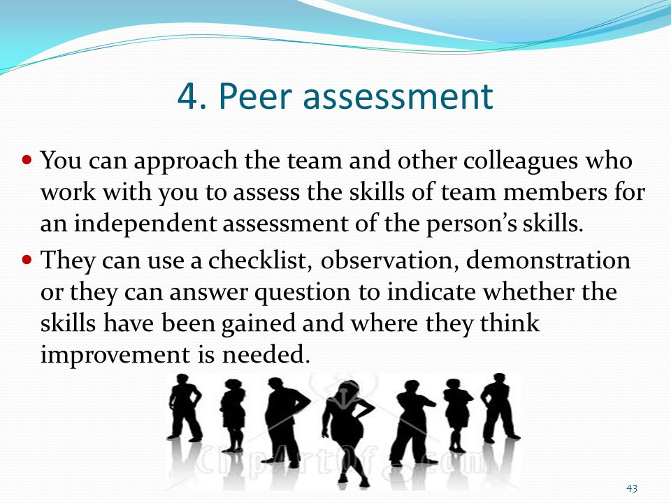 4. Peer assessment
