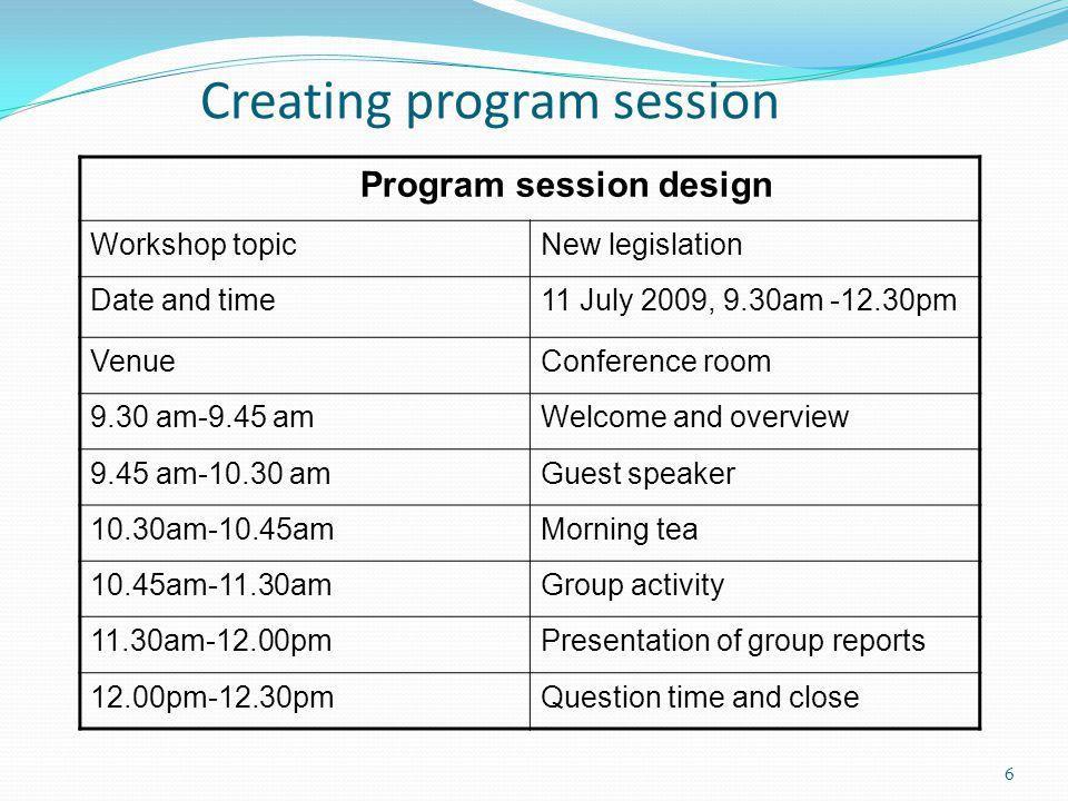 Creating program session