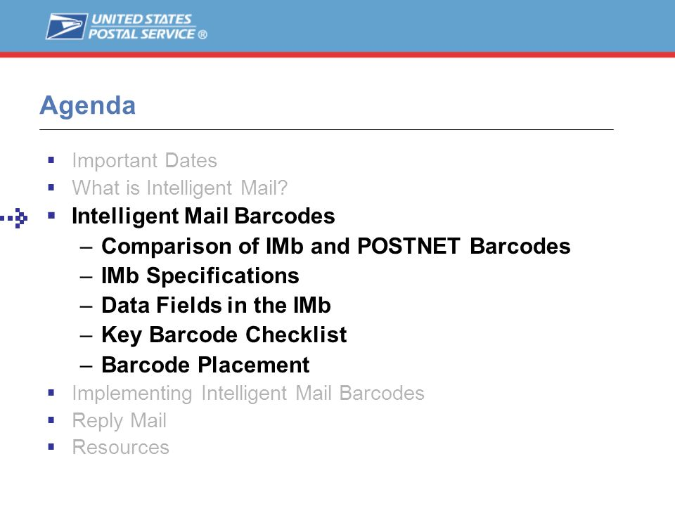 Agenda Intelligent Mail Barcodes