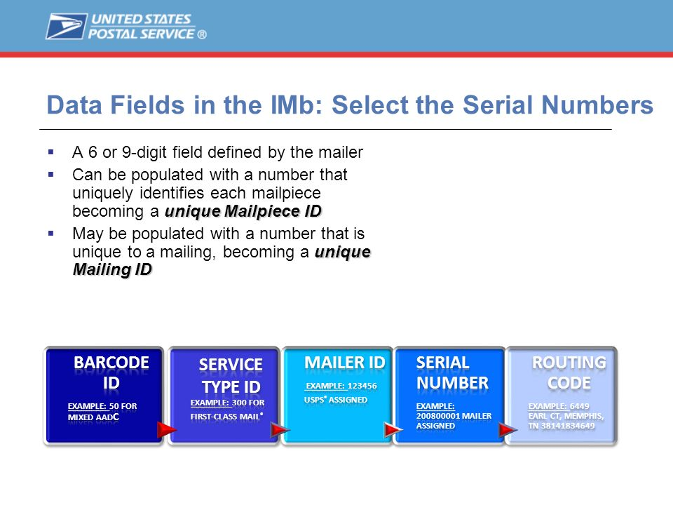 Data Fields in the IMb: Select the Serial Numbers
