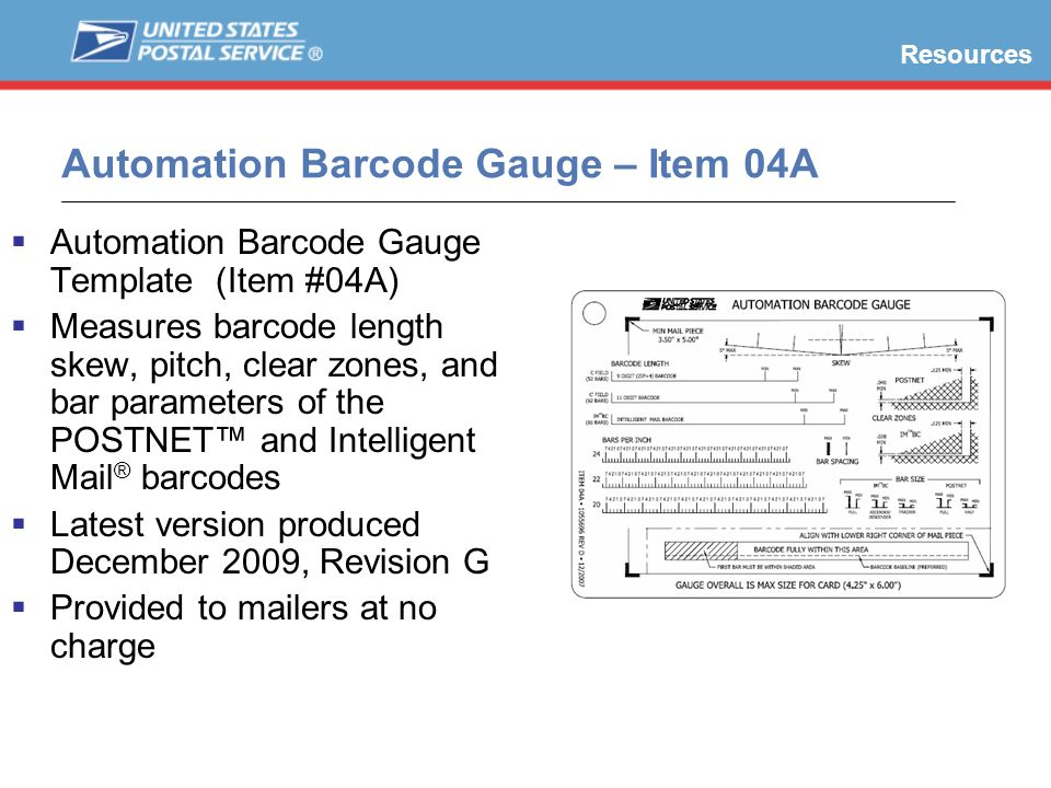 Automation Barcode Gauge – Item 04A