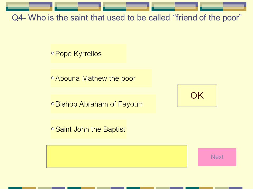 Q4- Who is the saint that used to be called friend of the poor