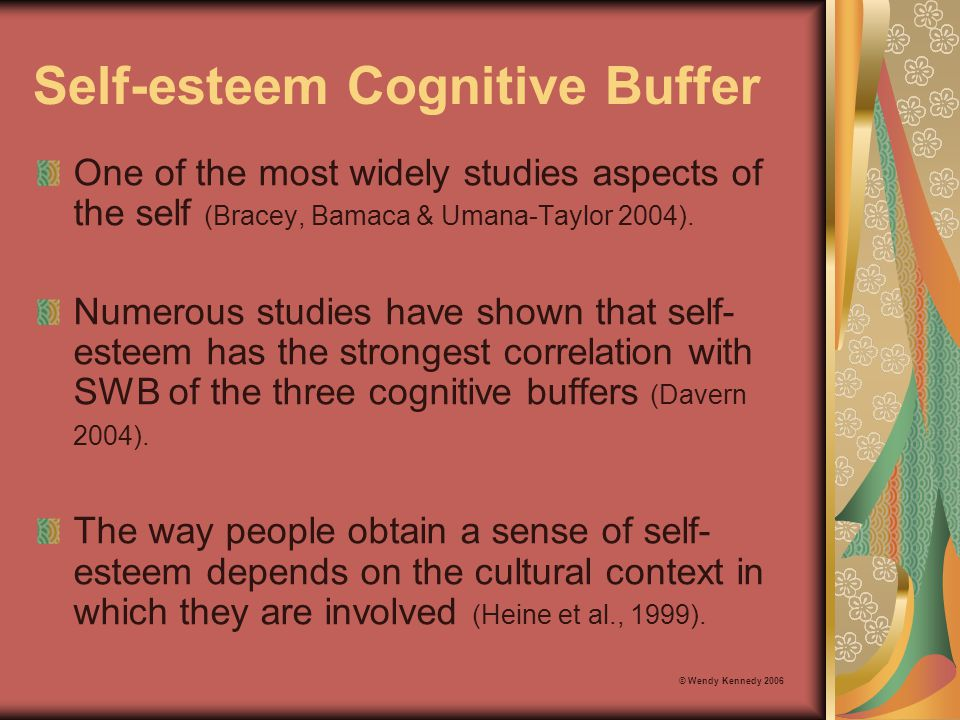 Self-esteem Cognitive Buffer