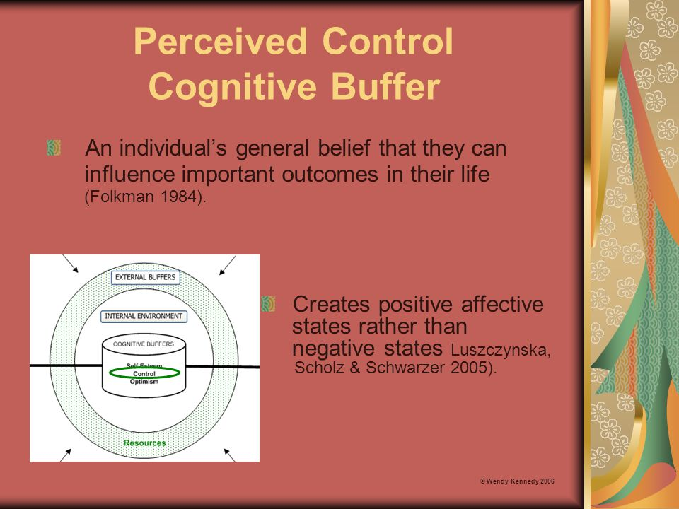 Perceived Control Cognitive Buffer