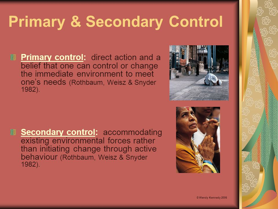 Primary & Secondary Control