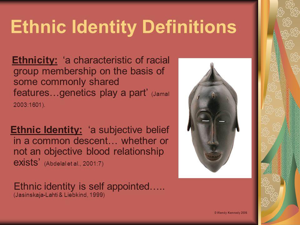 Ethnic Identity Definitions