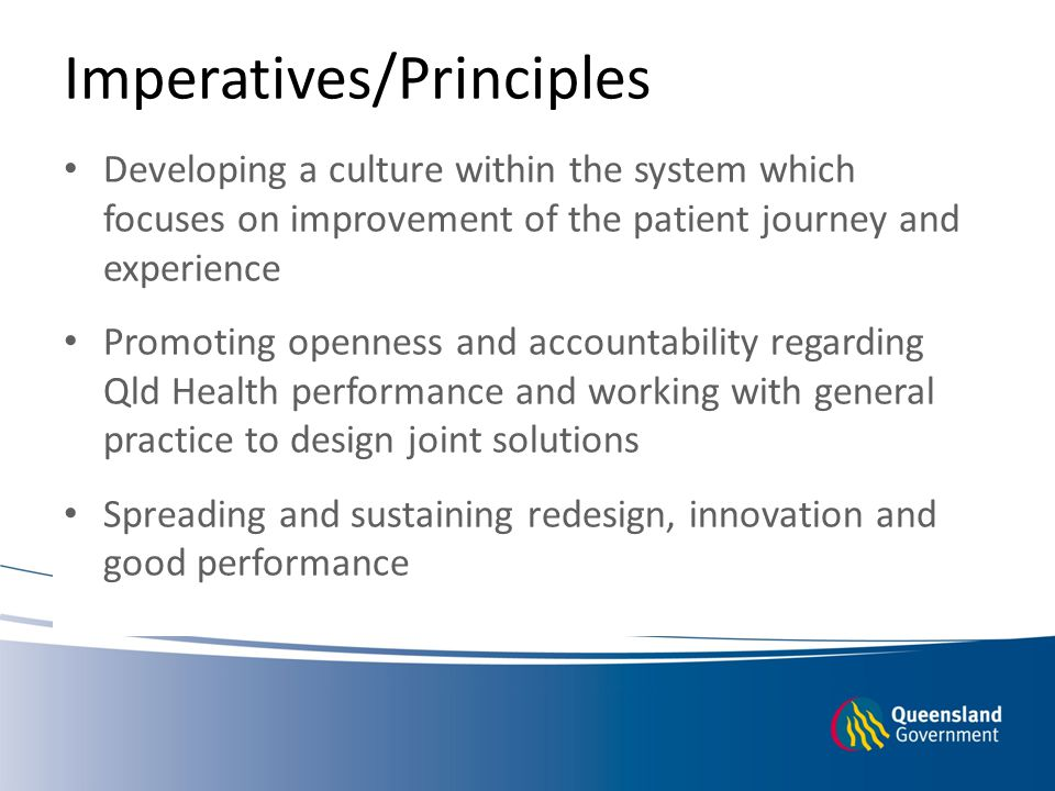 Imperatives/Principles
