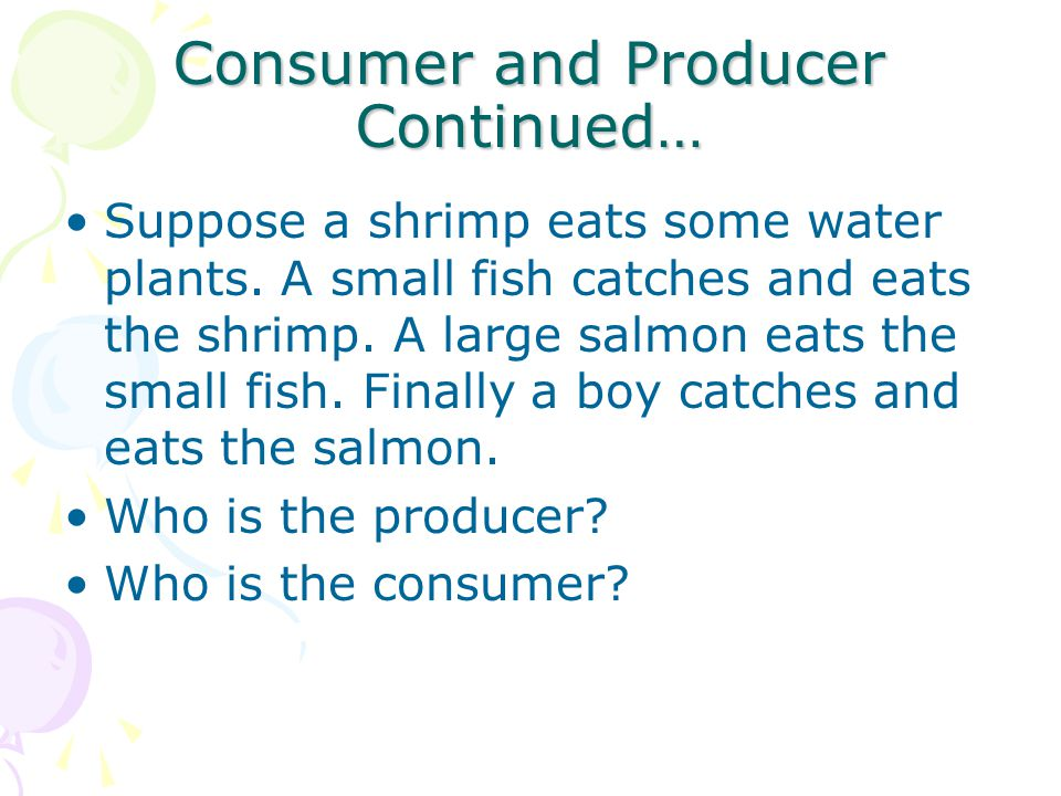 Consumer and Producer Continued…
