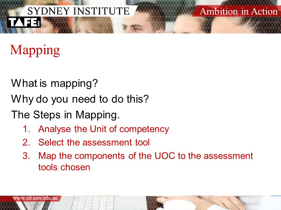 Mapping What is mapping Why do you need to do this