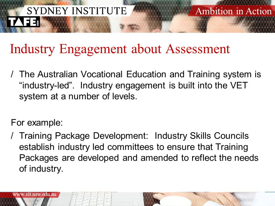 Industry Engagement about Assessment