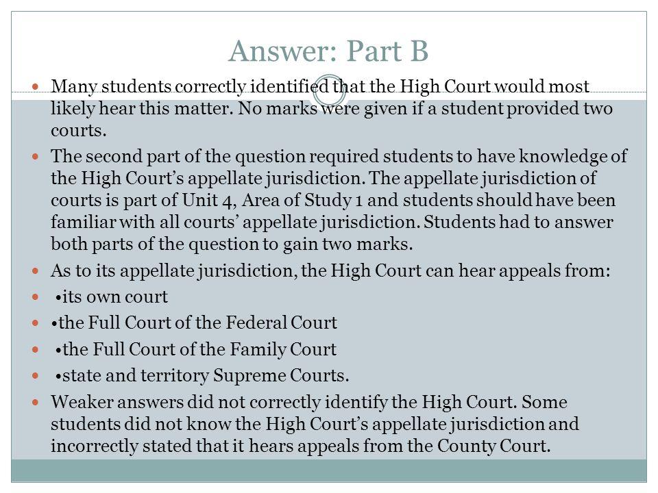 Answer: Part B