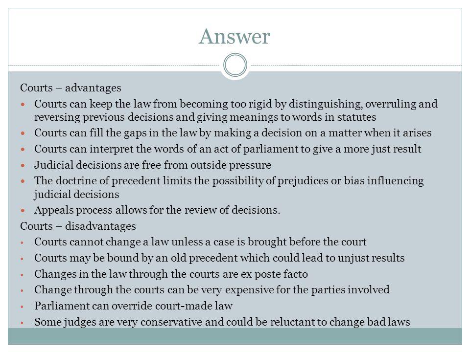 Answer Courts – advantages