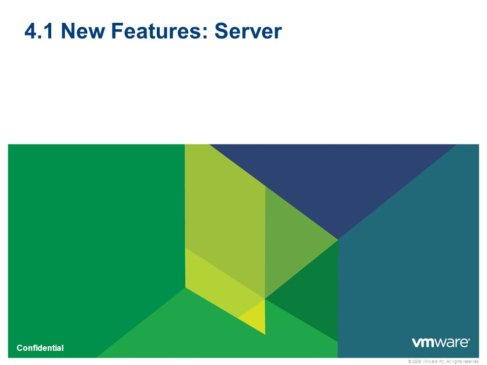 4.1 New Features: Server